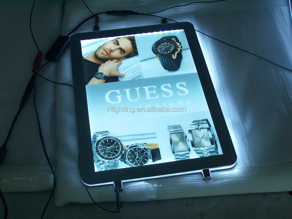 Competitive price round corner designed light box with laser dotting LGP