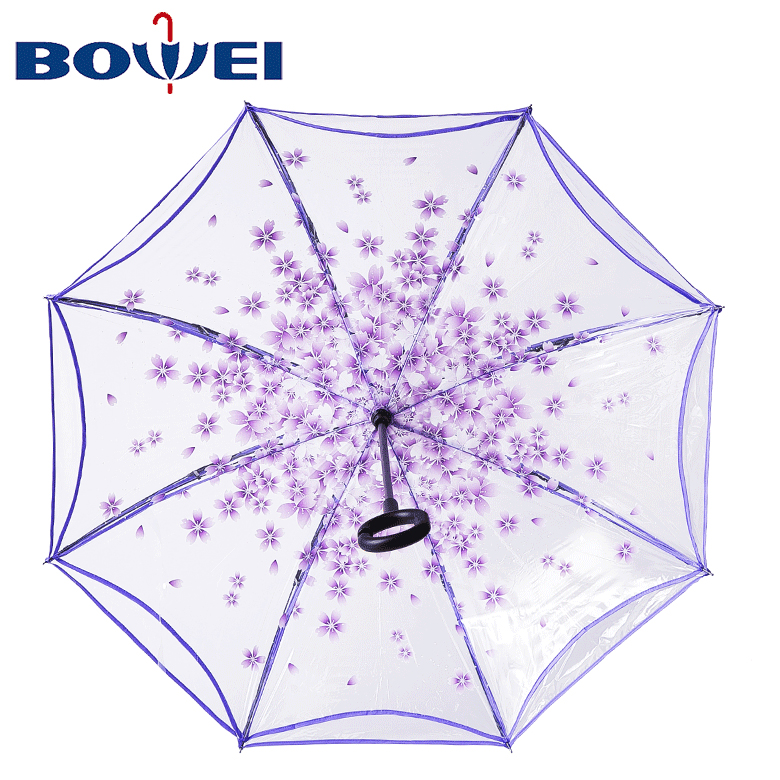 Portable Reverse Large Capacity Custom C Handle  Double Layer Stand Inverted Umbrella Made China