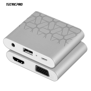 Digital AV adapter for IOS Android MacBook USB to HDMI And VGA+Audio Dual Display Converter