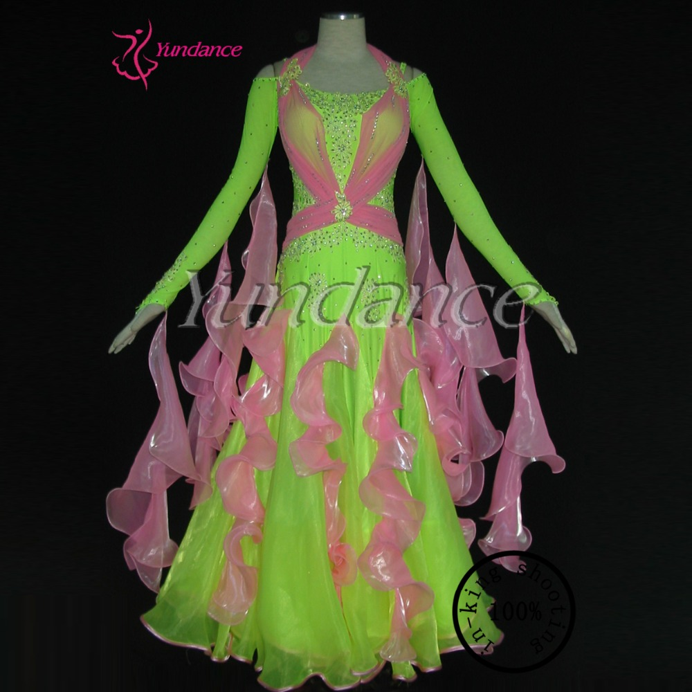 2017 Latest fashion ballroom dance competition dresses for girls in 21st century B-1194