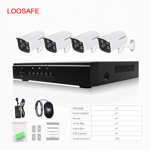 High Quality Professional Home Security System 4Ch 1080P Poe Camera Mini Nvr Kits