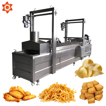 Industrial mini gas automatic chip oil free perfect pork rinds double fryer