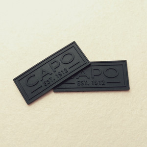 On sale Rubber Labels for cap soft PVC silicone hat logo badge