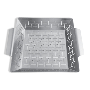 A3B 1.2 MM Thickness Portable Dishwasher Safe Stainless Steel Vegetable Grill Basket