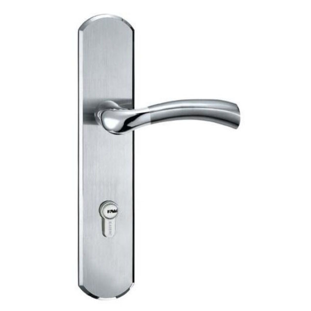 door lock and key black and white. HS-STB007 Stainless Steel Door Handle Lock High Quality With Key And Black White