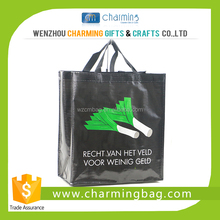 Black PP Woven Bag with Lamination from Charming