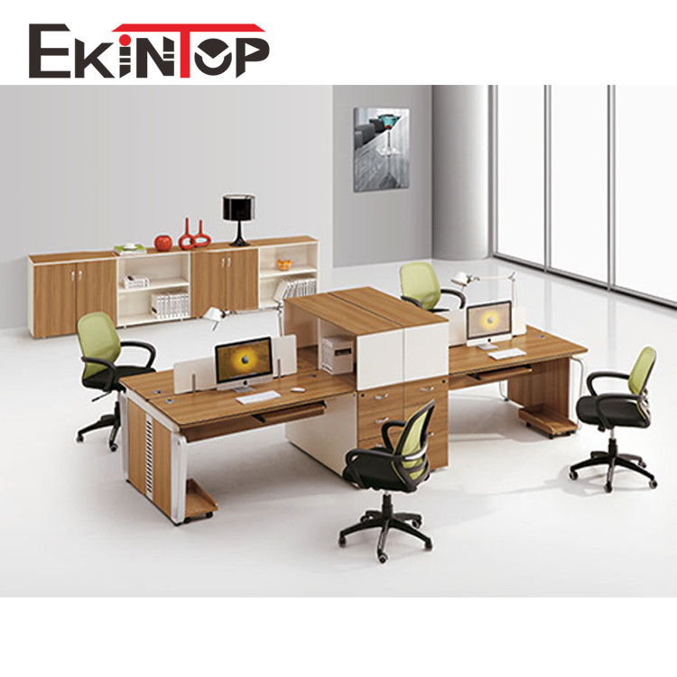 Office Table For 4 Person: Modern Office Furniture Office Desk 4 Seat Office