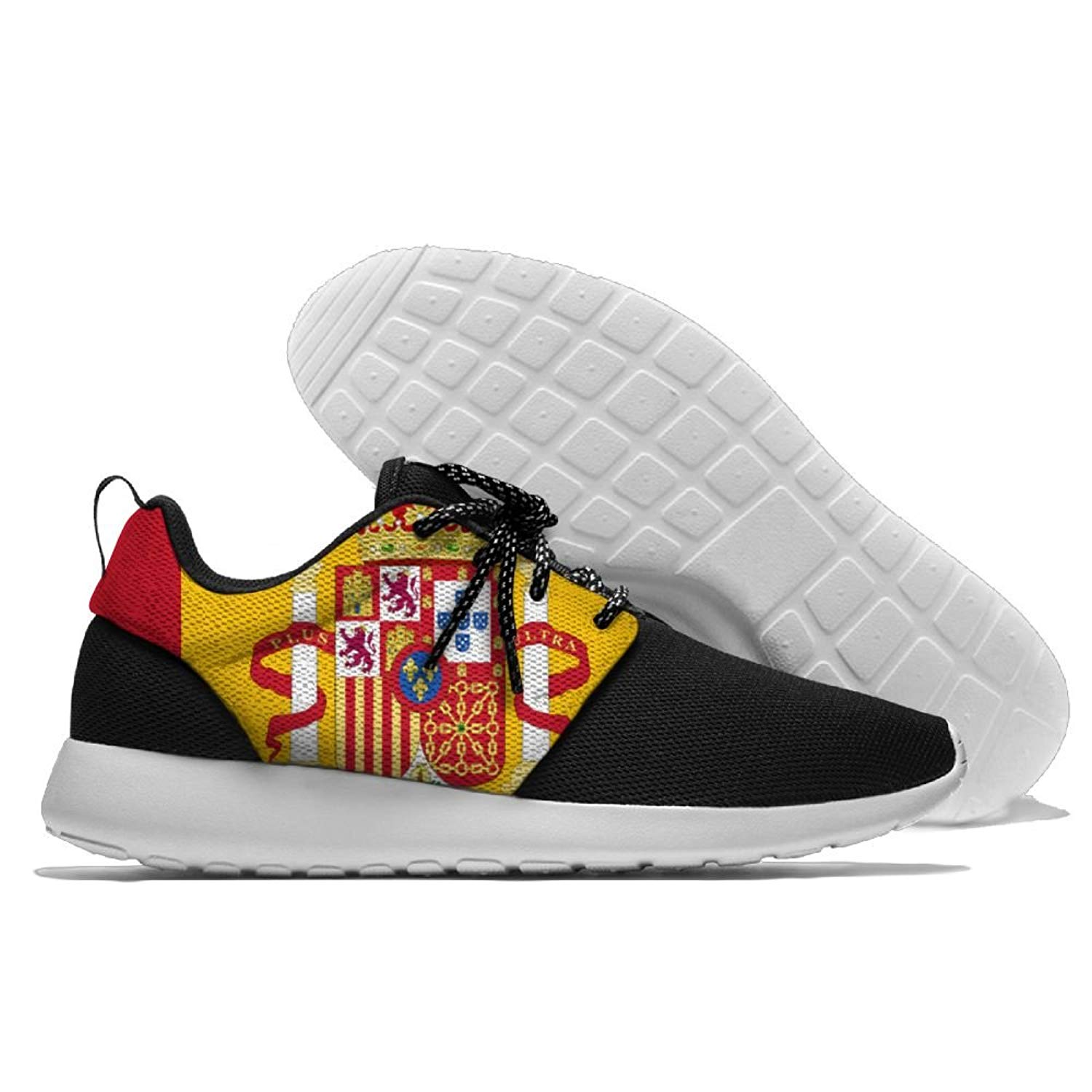 Spanish Flag Unisex Running Shoes Sport Shoes Lightweight Sneakers Men s  Mesh Breathable Athletic Walking Shoes 800f9a483