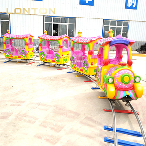 Train Rides on Rail Mall Mini Trains Kids Electric Track Train