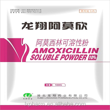 Pet Medicine Antibiotics Amoxicilin Powder 10% for Cat chicken poultry amoxycillin poultry