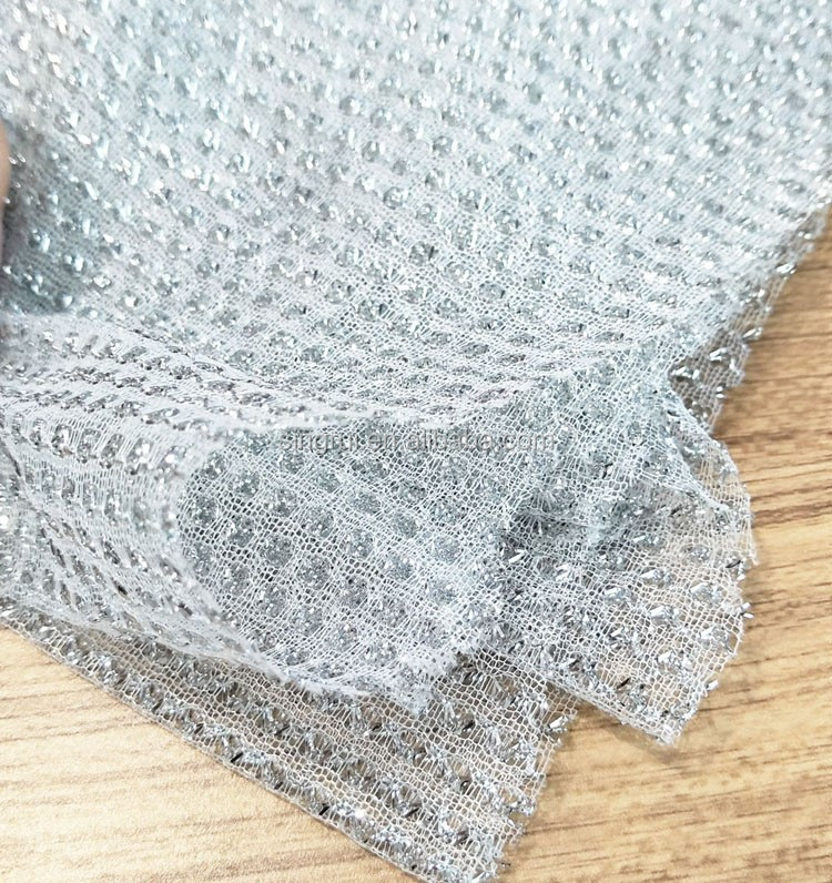 Shiny Gold Wire Knitted Polyester Fabric - Buy Polyester Fabric ...