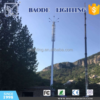 Telecommunication Galvanized Steel Monopole Tower