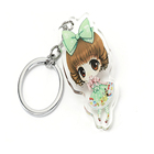 wholesale make your own animal glitter epoxy vograce custom acrylic charm key chains with heart keyring