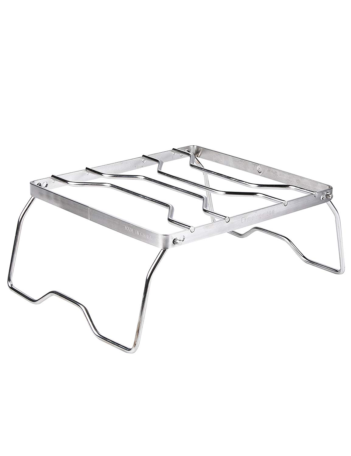 EL INDIO Portable Stainless Outdoor Gas Stove Stand for Camping Rack Stove Roast Pan Tray