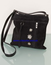 Traditional Bavarian Trachten Oktoberfest German Dirndl Bag, Suede Leather German Bag, Embroidery Bag