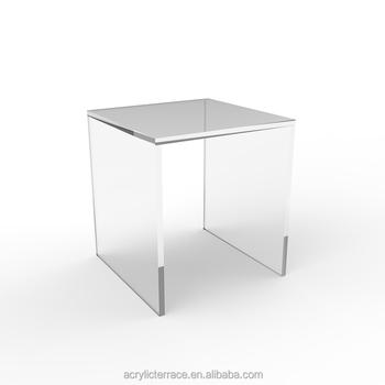 Table De Nuit Plexiglas transparent et lumineux acrylique plexiglas table de chevet - carré