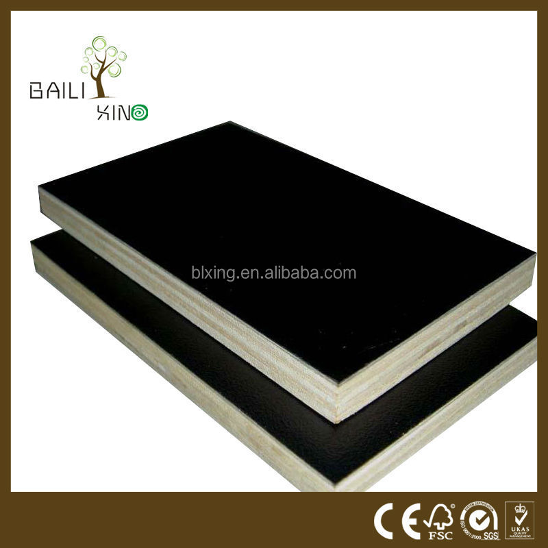 High reuse time 25-30 times plastic film faced form work plywood