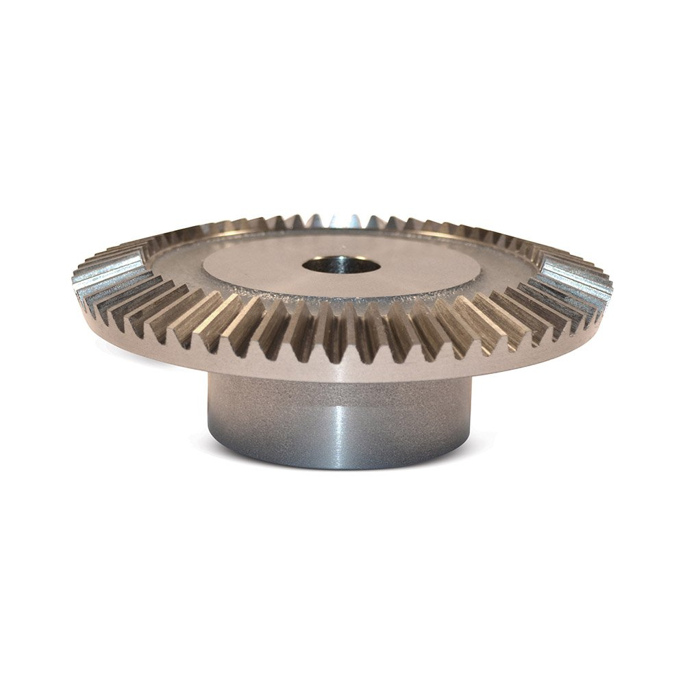 "Boston Gear PA726Y-G Bevel Gear, 2:1 Ratio, 1.125"" Bore, 6 Pitch, 42 Teeth, 20 Degree Pressure Angle, Straight Bevel, Cast Iron"