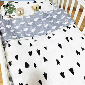 Muslin tree 3 pieces wholesale comforter sets child baby crib bedding set