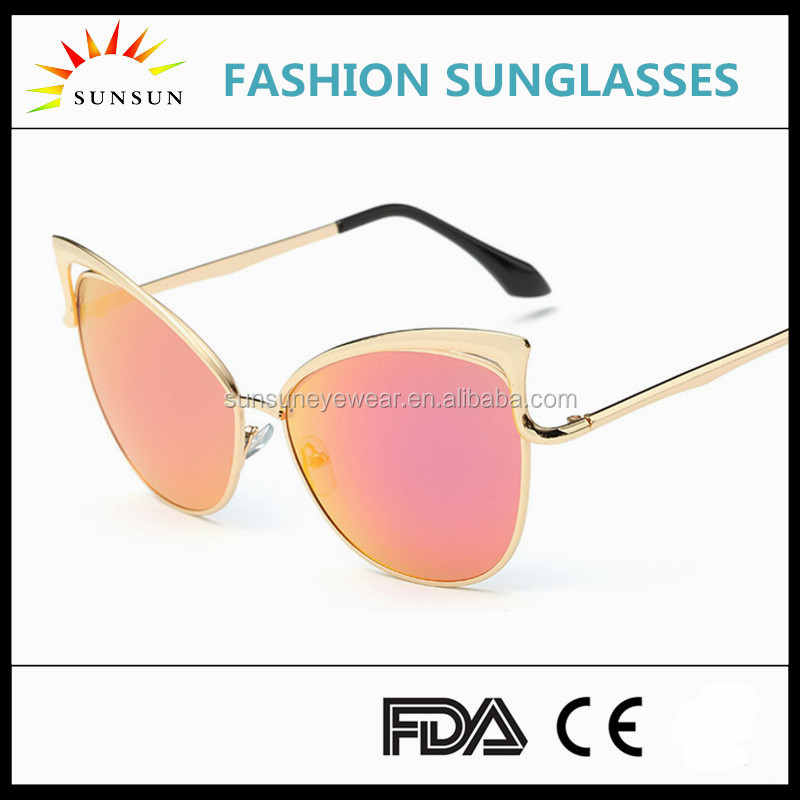 new brand design sunglasses/own brand cat eyes sun glasses 2016/LD923