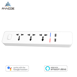 India wifi power strip 3 outlets and 2 usb ports Tuya app type D plug