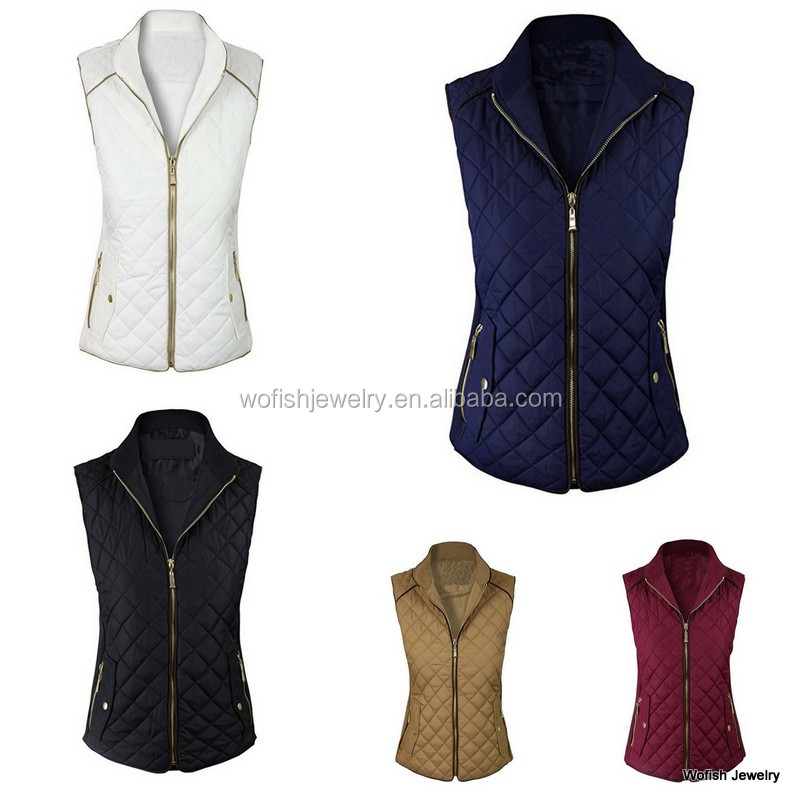 Fashionable winter warmer herringbone quilted vest 5 colors in stock