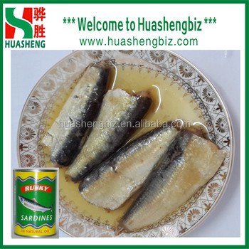 China Manufacturer 125g Canned Sardines In Oil