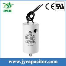8UF 450V CBB60 taizhou generator motor run capacitor with 2wires and screw
