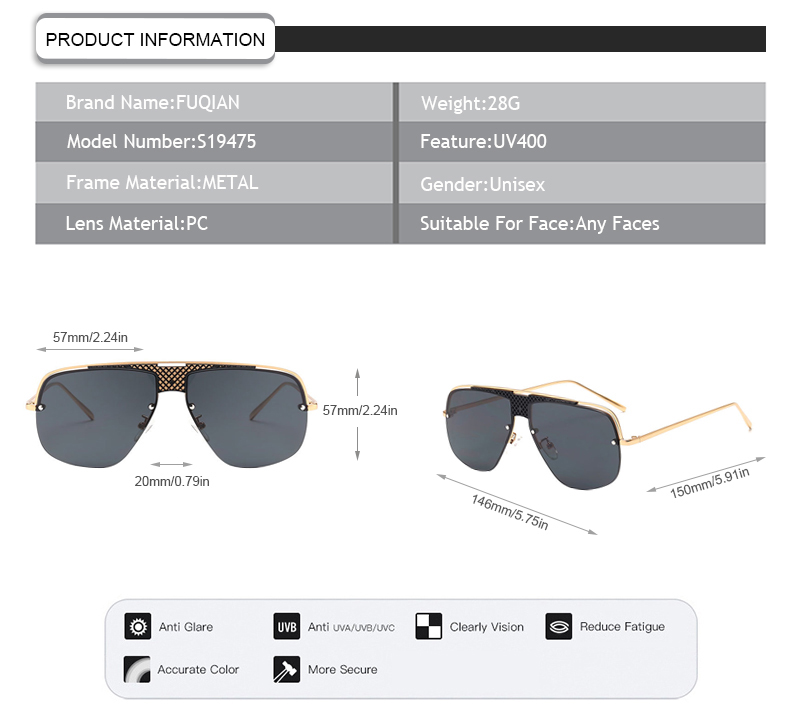 2019 fashion big frame gradient one-piece lens men women unisex sunglasses