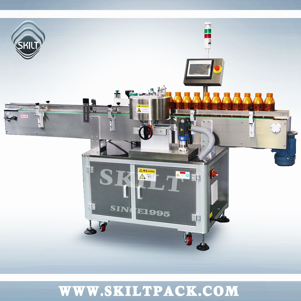 Automatic Sticker Round Juice Bottle Fixed Point Labeler