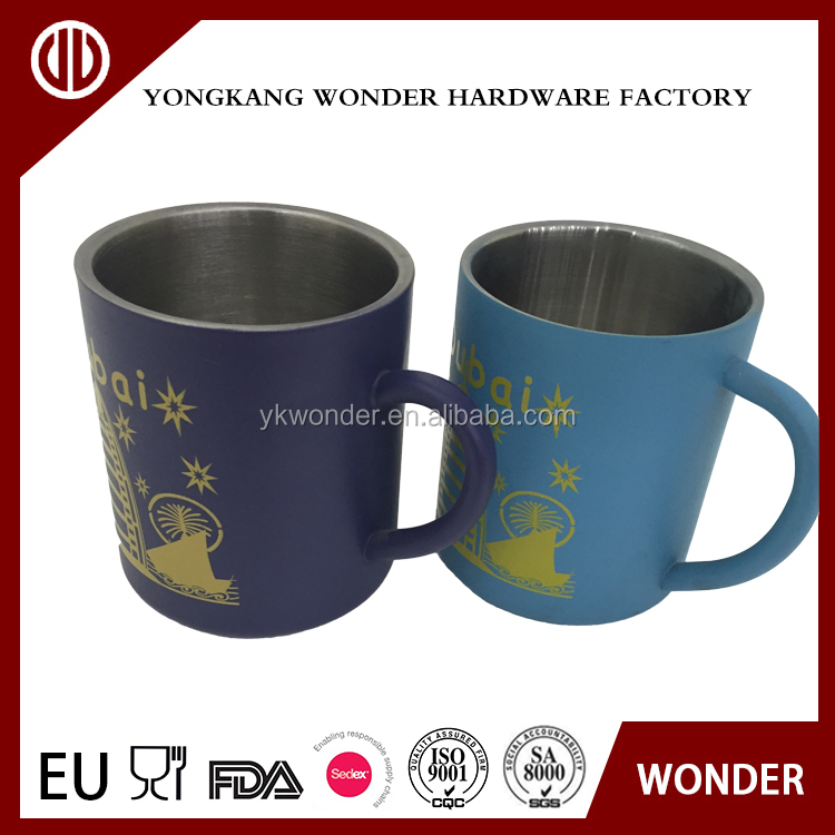 450ml stainless steel custom printed coffee mugs
