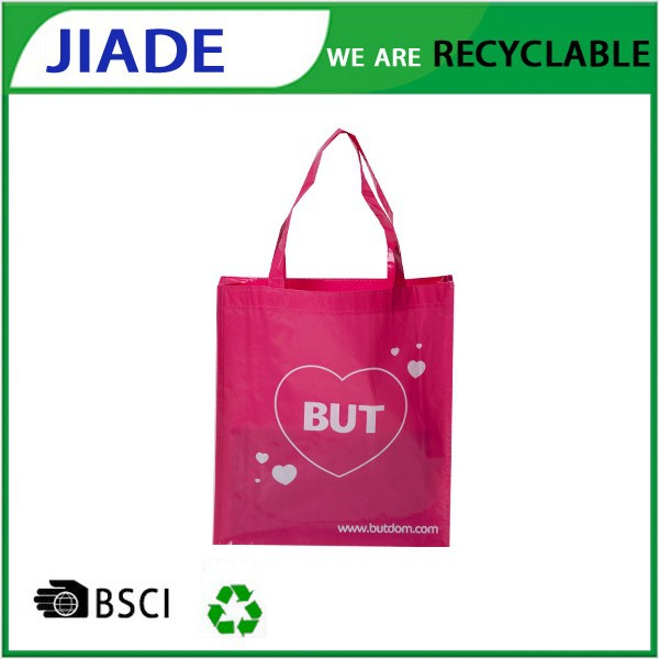 European tote bag/Gift bag pink/Plastic packaging reusable