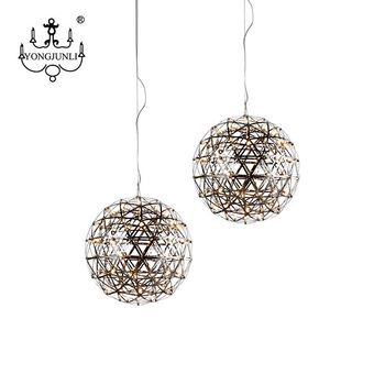 High Quality Canteen Stainless Steel Chandelier Bead Ball LED Pendant Lamp