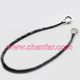 Hot sale mens snap button leather necklace with magnetic clasp jewelry