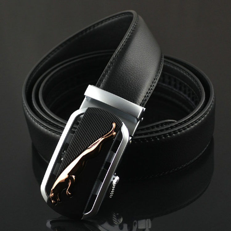 ab009b Dress Leather Men Automatic Buckle Formal Belt