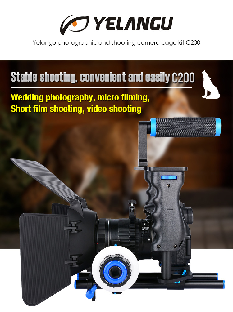 YELANGU High Quality And Best Selling Camera Cage Kit C200 For Photography