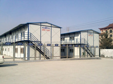 Alibaba high quality PVC board steel prefab house villa with low price