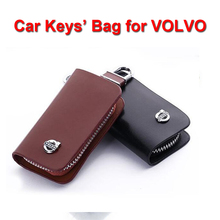 Leather Car Key Chain Holder Wallet Cover for Volvo S40 C30 S80 S80L C70 XC60 XC90 Car Remote Keys' Bag Key Case for Car