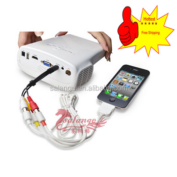 Hot sell handheld mini lcd pocket projector for iphone for Portable handheld projector