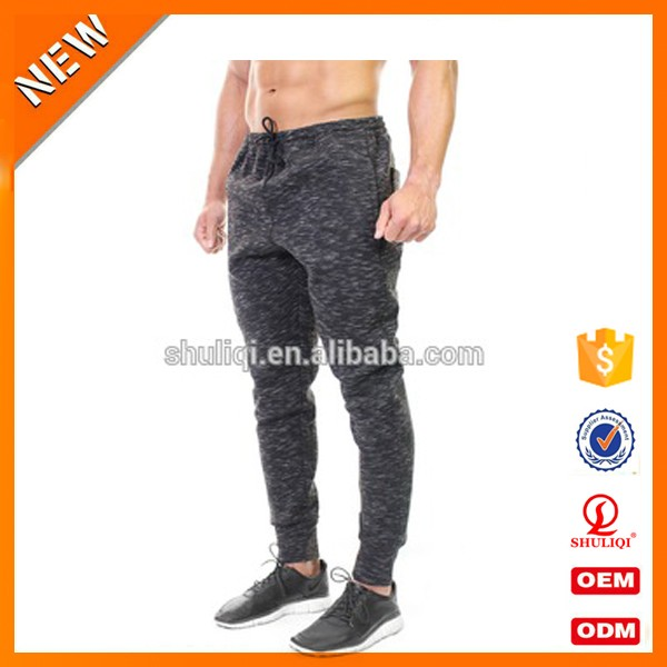 Tech fleece blank jogger pants mens tight pants polyester track pants