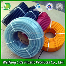PVC high pressure power water crystal korea spray hose,high pressure spray pvc hose pipe