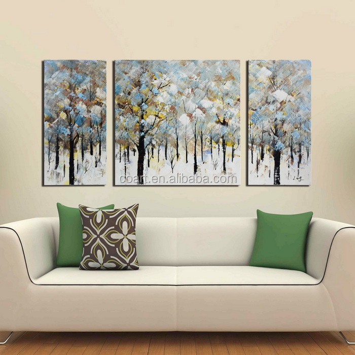 Modern Canvas Landscape Oil Painting for Hotel