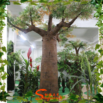 Artificial fake plastic large decorative breadfruit baobab for Small garden trees for sale