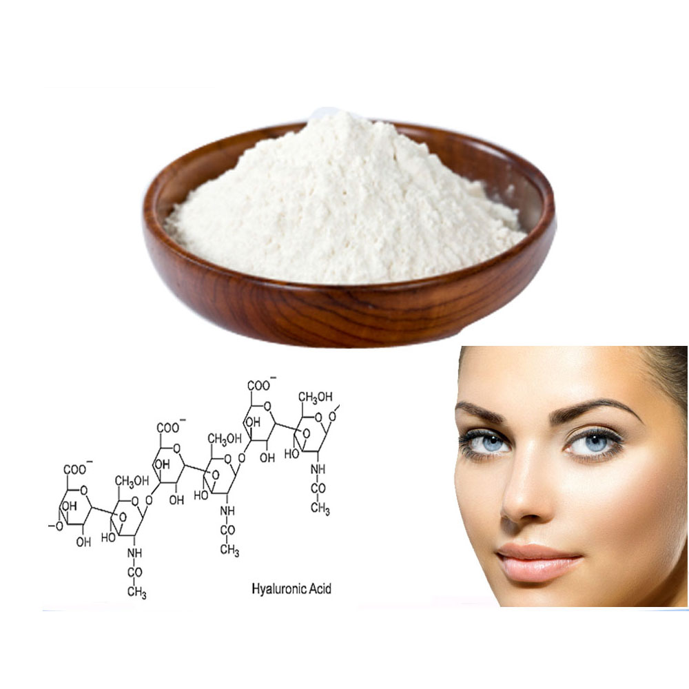 Bulk and Wholesale Cosmetic Grade Hyaluronic Acid 99%,Hot sale Hyaluronic Acid powder 9004-61-9