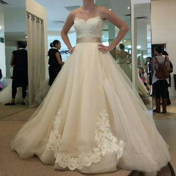 On114 Simple Design Bridal Gown With Sashes Sweetheart Off Shoulder ...