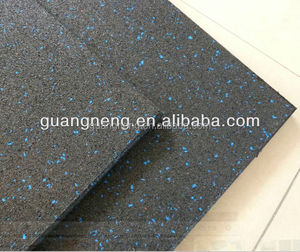 1 inch thick cheap price rubber garage floor tile/CE certificated used rubber gym mat for crossfit