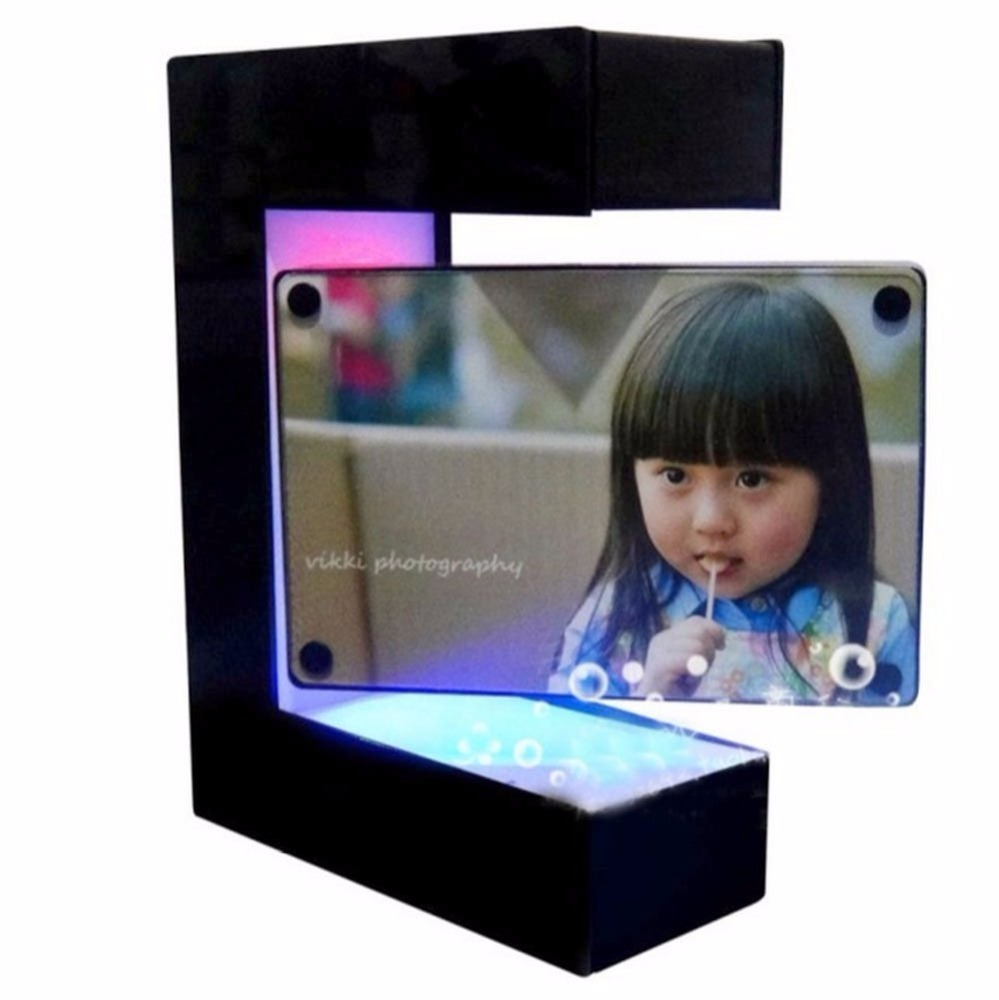 Square Magnetic Photo Frame Suspended In Air Floating Magnetic Levitation Display