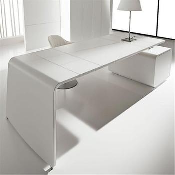 Fashion Ceo Desk White Modern Office Furniture Designer Executive Product On