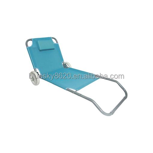 pas cher plage lit pliant lit en m tal avec roues l ger pliant lit de plage chaise pliante id de. Black Bedroom Furniture Sets. Home Design Ideas