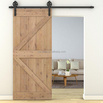 Interior Wooden Sliding Barn Doors With Hardware For House   Buy Solid  Door,Unassembled Barn Door,American Style Wooden Sliding Door Hardware  Product ...